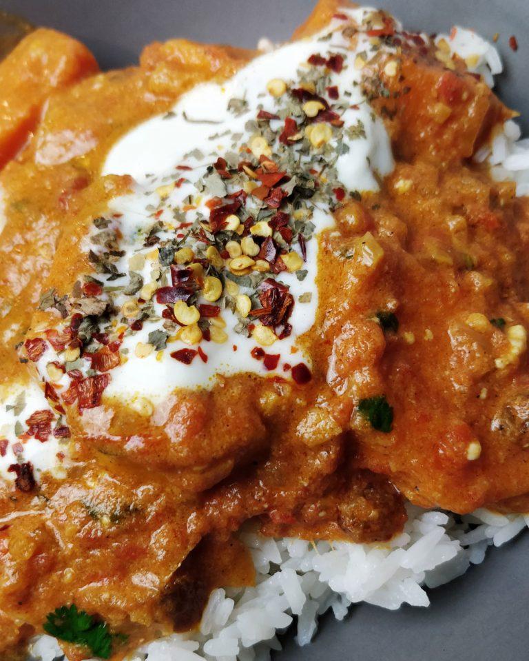 Süßkartoffel Cashew Curry
