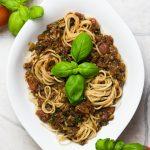 Vegane bolognese Rezept aus Champignons